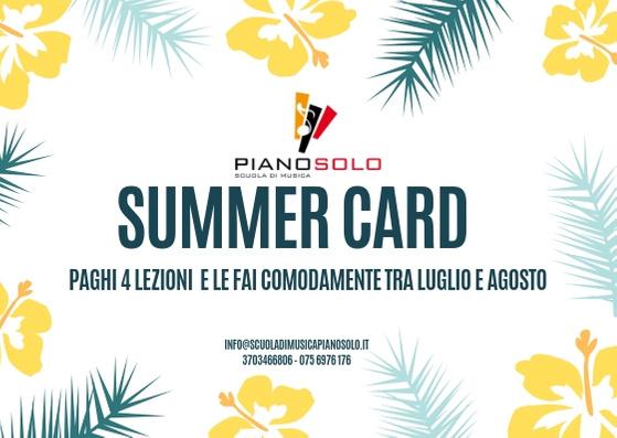 """Summer Card - Scuola di Musica """"Piano, Solo"""""""